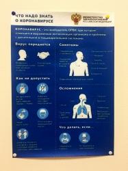 Наклейки о короновирусе COVID-19 для офисов и магазинов